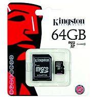 Kingston Micro SDXC 64GB Class 10 + SD adaptér