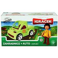 IGRÁČEK - Zahradnice s autem a doplňky