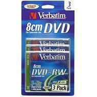 Verbatim DVD-RW 2x, MINI 8cm 3ks v SLIM krabičce