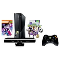 Microsoft Xbox 360 250GB Kinect Bundle + Kinect Sports 1 + Dance Central 2
