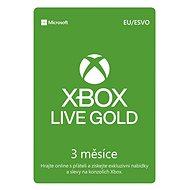 Microsoft Xbox 360 Live 3 Month Gold Membership Card (Digitální kód)