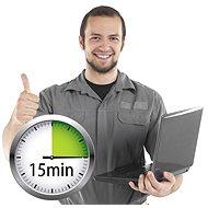 Servis on-line: práce technika 15minut