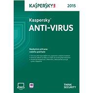 Kaspersky Anti-Virus 2015 CZ - obnovení nebo konkurenční upgrade pro 1 PC na 12 měsíců